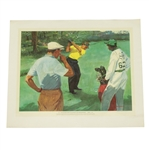1954 Masters Play-Off Sportsmans Eyrie Print Featuring Sam Snead & Ben Hogan