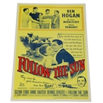 Follow The Sun Movie Poster Featuring Mr. & Mrs. Ben Hogan - Produced By Original 20th Century Fox Printing Block