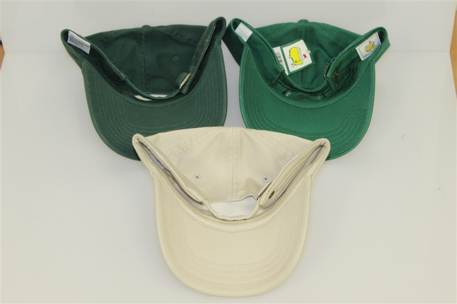 Masters Tournament Green & Khaki Slouch Hats - 2004 & 2005