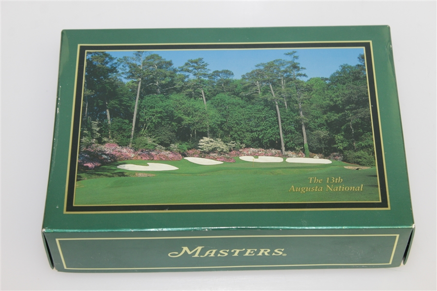 Masters Tournament Sets of Golf Balls - 2005, Undated & Notecards Featuring Augusta National Holes