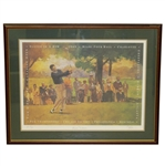 Byron Nelson Signed 11 In a Row Print Limited to 50 -  Commemorating Historic 1945 win Streak JSA ALOA