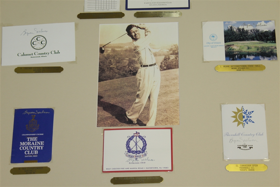 Byron Nelson Signed Course Scorecard Presentation - Each Victory During Historic 1945  '11 In a Row' Represented JSA ALOA