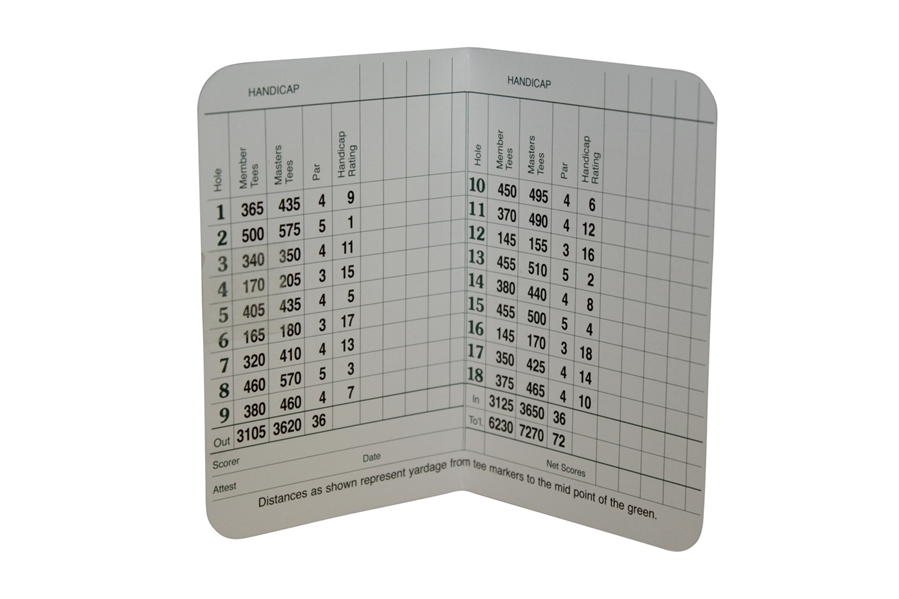 Craig Wood Signed Scorecard Mounted on Augusta National Scorecard JSA ALOA