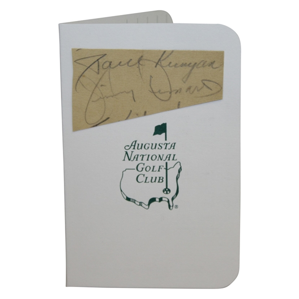 Jimmy Demaret Signed Scorecard Mounted on Augusta National Scorecard JSA ALOA