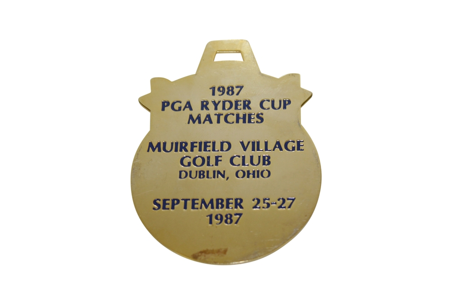 1987 Ryder Cup at Muirfield Village Engraved Bag Tag