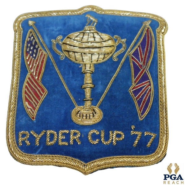 1977 Ryder Cup at Royal Lytham & St Annes GC Contestant Bullion Blazer Crest/Badge