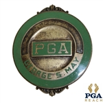 George S. Mays PGA Badge/Credentials - Golfs Broadcasting Pioneer & Tam OShanter Club Owner