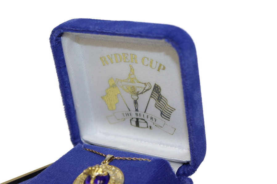 2002 Ryder Cup at The Belfry 10kt Gold Necklace- In Original Box