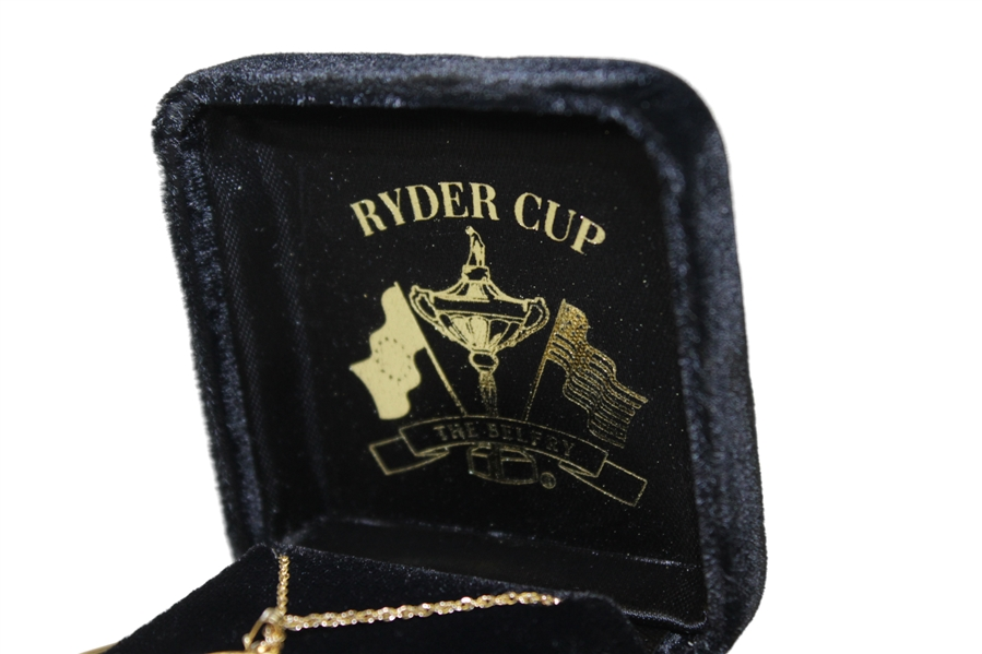 2002 Ryder Cup at The Belfry 14kt Gold Necklace- In Original Box