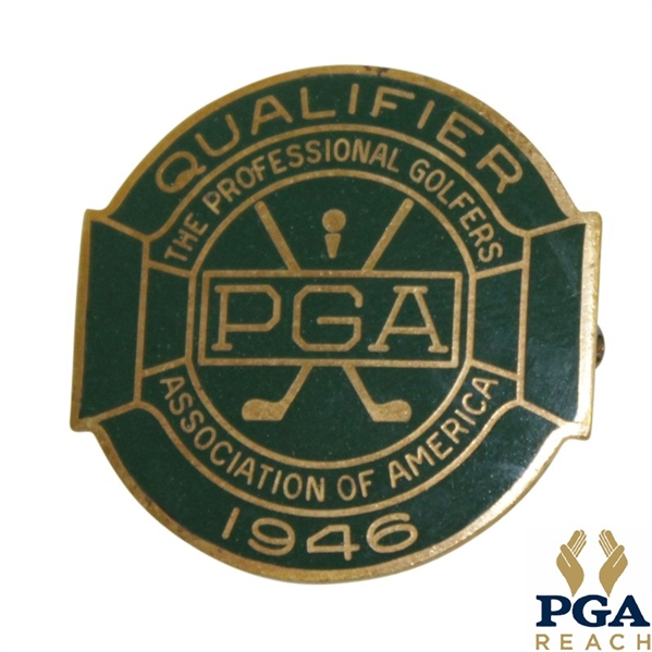 1946 PGA Championship at Portland C.C. Contestant Badge - Ben Hogan First Major Win - Very Good Condition