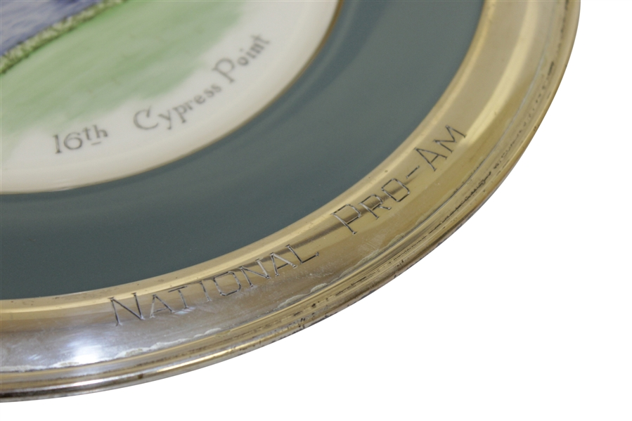 Bing Crosby Pro-Am Pebble Beach 16th at Cypress Point Plate - Engraved & Gifted to Maurie