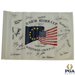 Rory McIlroy (Age 15) & Tony Finau (Age 14) Signed 2004 Junior Ryder Tournament Used Flag - US & Europe Teams JSA ALOA