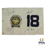 Cabrera, Glover, Cink & Yang Signed 2009 PGA Grand Slam of Golf Flag JSA ALOA