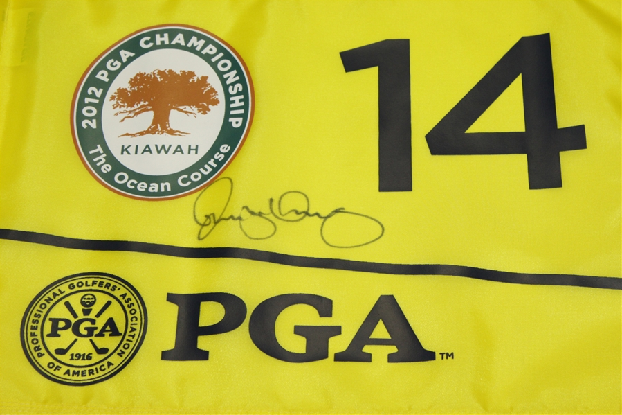 Rory McIlroy Signed 2012 PGA Championship at Kiawah Island Golf Resort Used Pin Flag #14 JSA ALOA