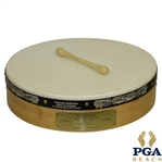Padraig Harringtons 2009 PGA Champions Dinner Gift - Vignoles Bodhrans Drum with Drumstick - Made in Ireland