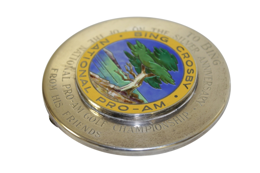 Bing Crosby's Personal Pro-Am Paperweight - Gifted to Him to Celebrate The Tournament's 25th 'Silver' Anniversary in 1966