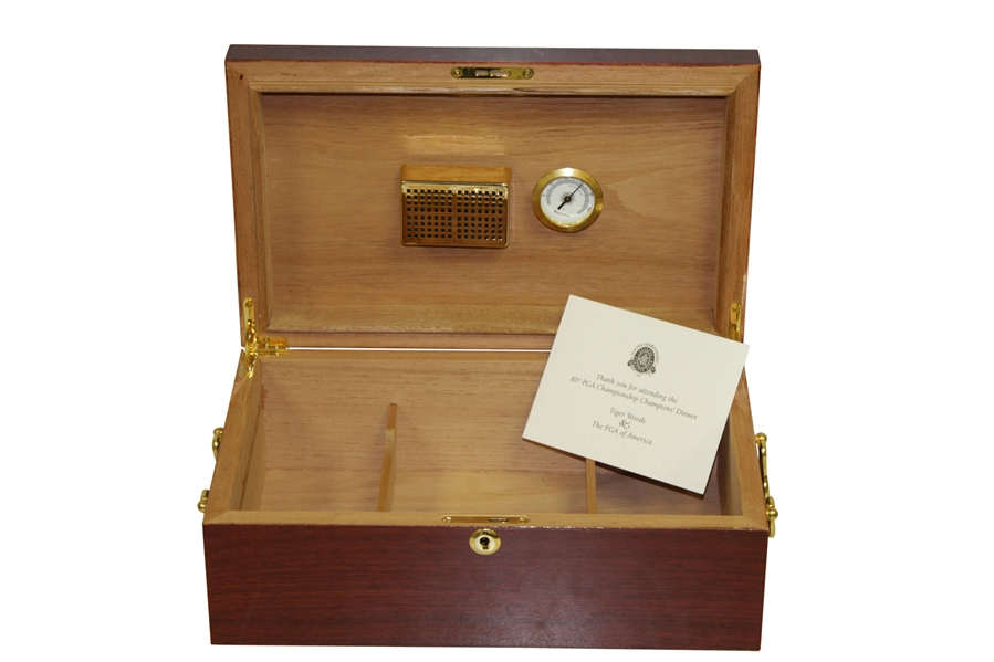 Tiger Woods' 2000 PGA Championship-Champions Dinner Gift Humidor w/ Thank You Card - Seldom Seen