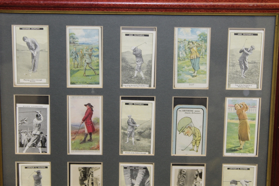 Assortment of Original Tobacco Cards Inc. Havers, Mitchell & Jones - Framed Presentation