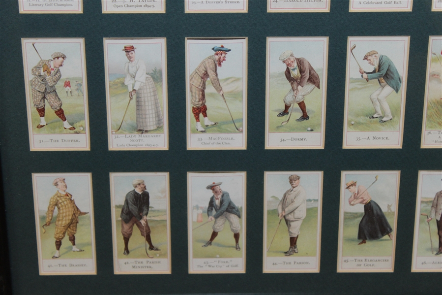 1900 Copes Bros & Co. Tobacco Cards Produced in London Framed Presentation  - Set of 50