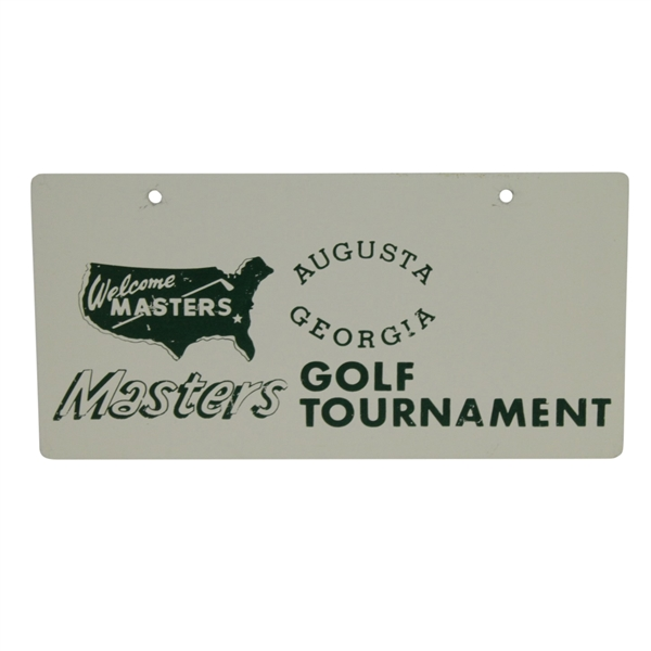 Classic Masters Golf Tournament Green & White Metal License Plate