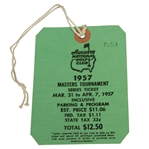 1957 Masters Tournament Series Ticket #7053 - Doug Ford Winner