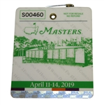 2019 Masters Tournament Series Badge #S00460 - Tiger Winds 5th Green Jacket!