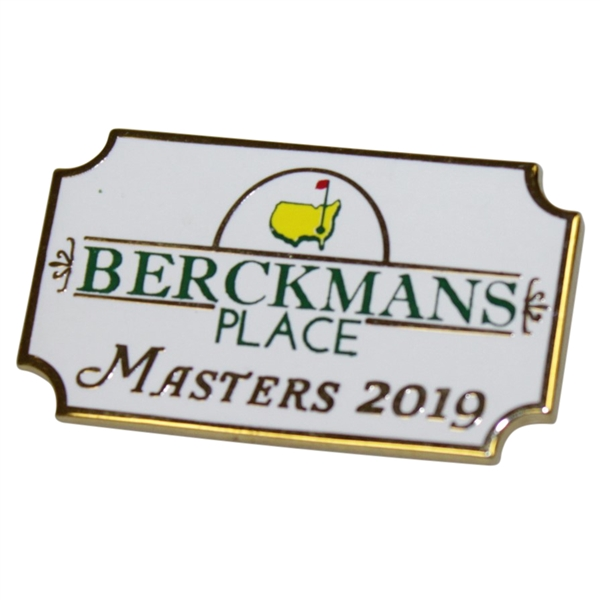 2019 Masters Tournament Berckmans Pin - Tiger Wins 5th Green Jacket!