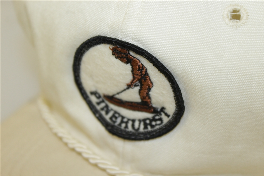 Vintage Pinehurst Country Club White Rope Hat - Putter Boy Logo