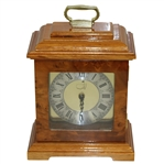 Vintage Augusta National Member Undated Burl Wood Clock
