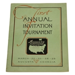 1934 Augusta National First Annual Invitation (Masters) Tournament Program - Excellent Condition