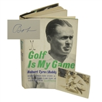 Bobby Jones Signed 1960 Golf Is My Game Book w/ Notation & Original 1935 Photo - Glenna Collett Collection JSA ALOA