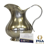 Jay Haas 2009 Senior PGA Championship Champions Dinner Silver Trophy Pitcher Gift - Handmade In Italy w/ Note & Silver Makers Stamp