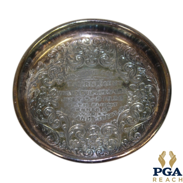 Washington State Golf Tournament 'Runner Up' Award Plate from 1920's