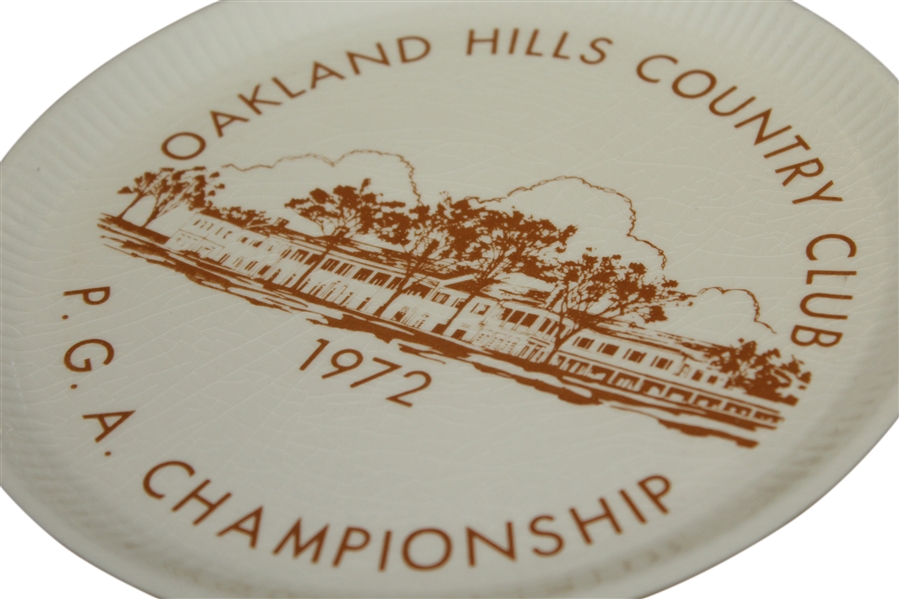 1972 PGA Championship at Oakland Hills CC Decorative Plate - Gary Player Winner
