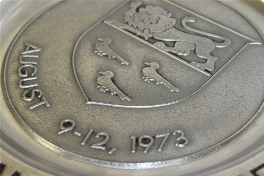 1973 PGA Championship at Canterbury GC Petwer Plate - Jack Nicklaus Winner