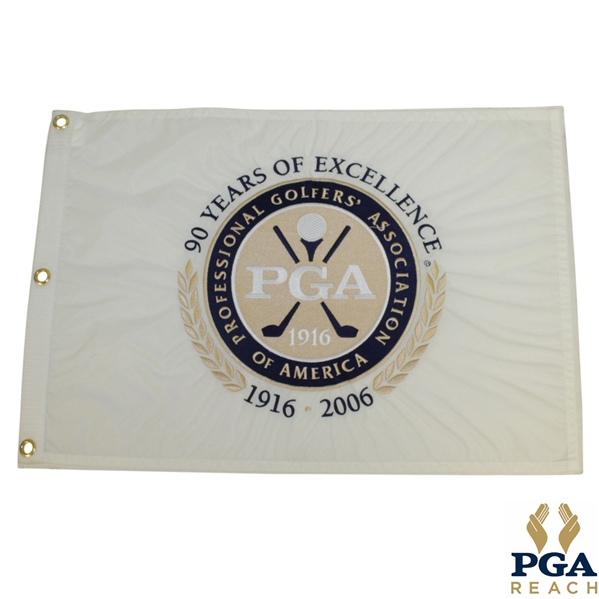 PGA of America 90th Anniversary Embroidered Flag - 1916 to 2006