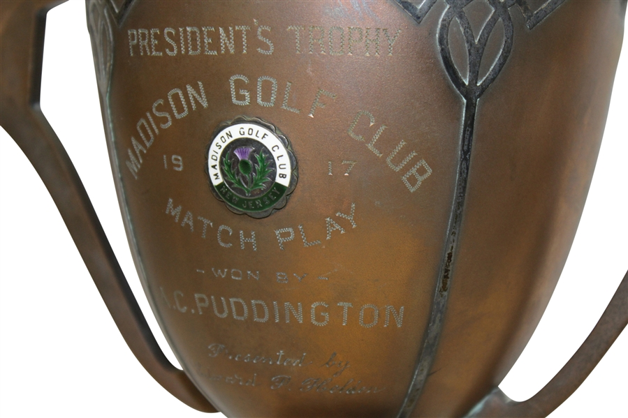 1917 Madison Golf Club President's Cup Engraved Winner's Trophy - New Jersey Club