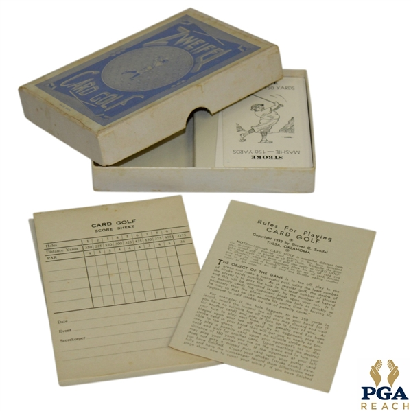 Grover C. Zweifel 'Card Golf' Game - Circa 1932