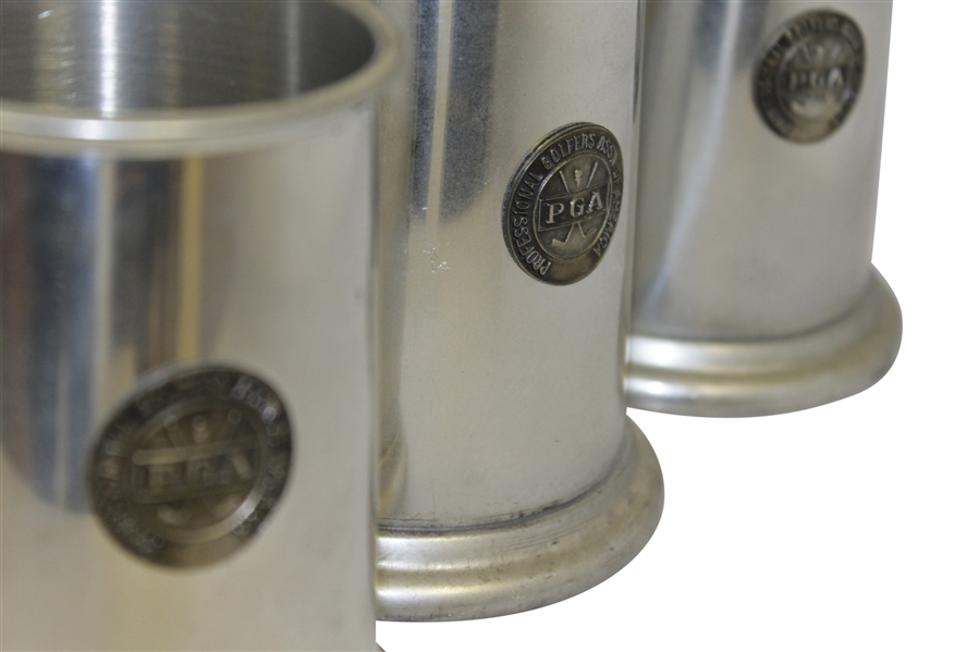 PGA Aluminum Steins w/ Circular Relief PGA Logo - Set of Three