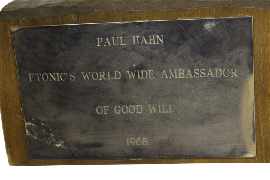 Paul Haun Etonic's World Wide Ambassador of Good Will Award - Wooden Figurine