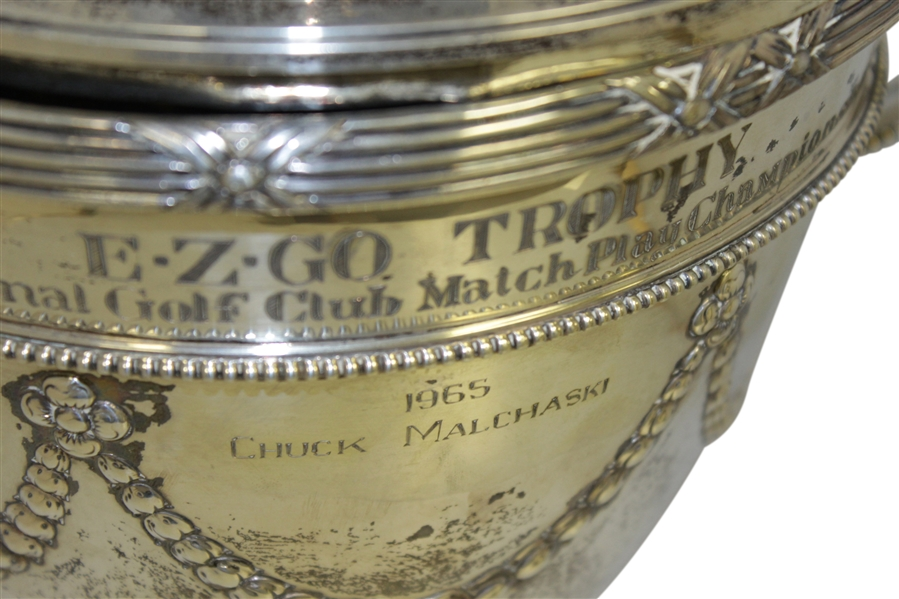 EZ Go PGA National Golf Club Match Play Championship Silver Loving Cup Trophy - Chuck Malchaski '65, Jerry Cooper '66 And Bob Frainey '64