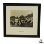 1921 US Open Trophy Presentation at Columbia Country Club to Champion Jim Barnes by President Harding Framed - Original