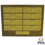 Johnny Millers Record 49 Under Par 1975 Score Cards from Phoenix & Tucson Open - Consecutive Events JSA ALOA