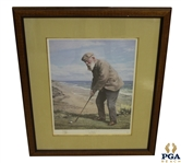 Old Tom Morris Lithograph - Signed by Artist Arthur Weaver