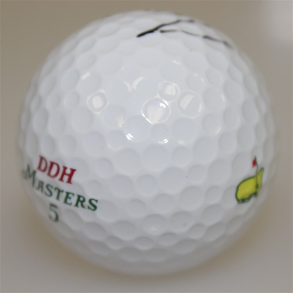 Tiger Woods Signed Masters Logo Golf Ball -Obtained at Tiger's 1st Major 1995 Augusta- JSA FULL LETTER
