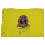 Vijay Singh Signed 1998 PGA Championship at Sahalee Embroidered Pinney Flag JSA ALOA
