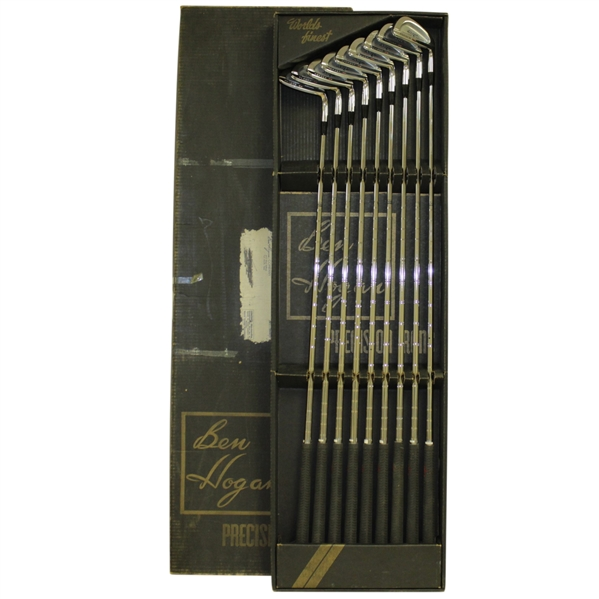 Complete Set of Unused Ben Hogan Forged GS Exclusive Design Precision Irons in Original Box