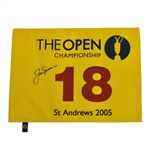 Jack Nicklaus Signed 2005 Open Championship at St. Andrews Flag JSA ALOA