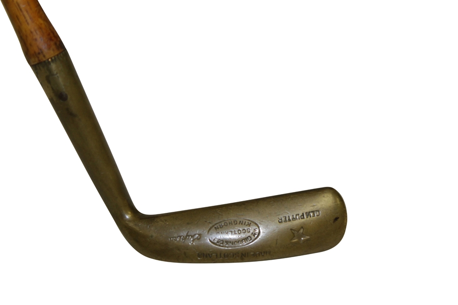 Gibson Brass Head Wood Shafted Gem Putter - Kinghorn Scotland