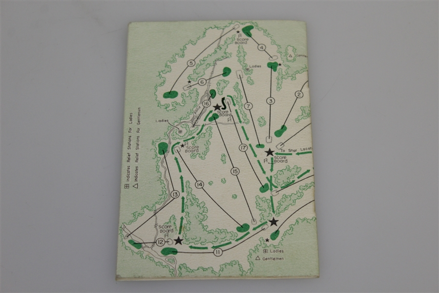 1951 Masters Tournament Spectator Guide - Ben Hogan Winner
